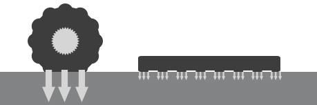 Bodendruck Raupendumper vs. Muldenkipper