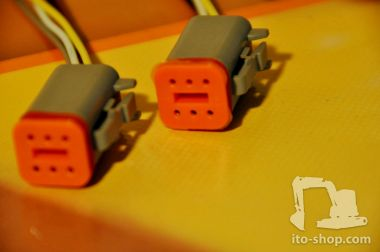 Scheinwerfer Kabel JCB Set